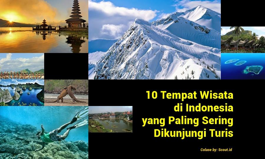 10 tempat wisata di Indonesia paling dikunjungi