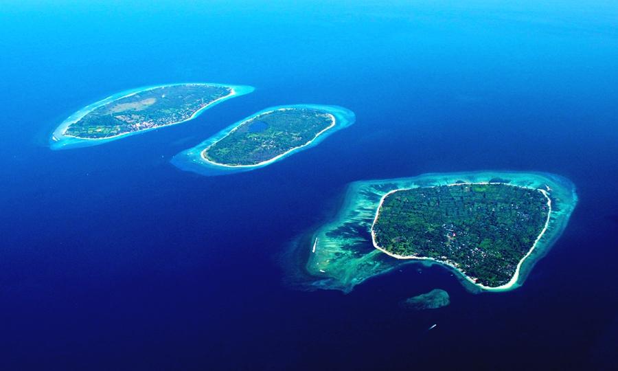 Gili Trawangan, Gili Meno, dan Gili Air tiga pulau cantik di Lombok