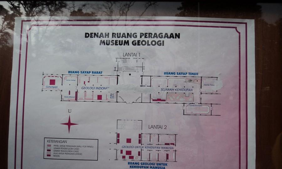 Denah Ruang di Museum Geologi Bandung