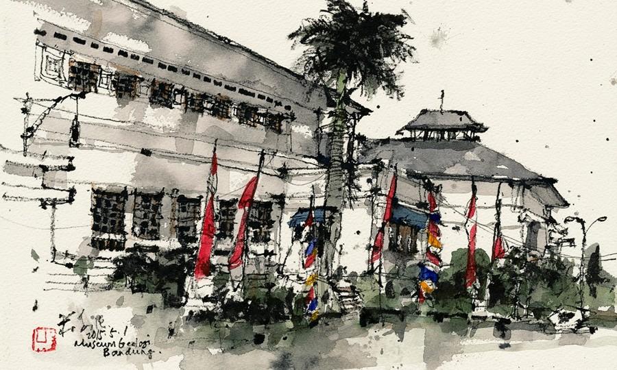 Illustrasi Museum Geologi Bandung