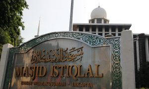 Papan Masjid Istiqlal Indonesia
