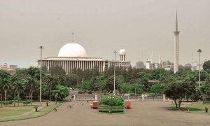 View Jauh Masjid Istiqlal Jakarta
