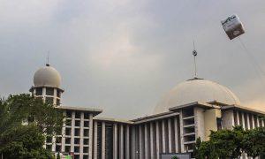 Balon expo di Masjid Istiqlal