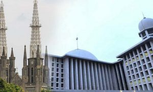 Gerja Katedral dan Masjid Istiqlal