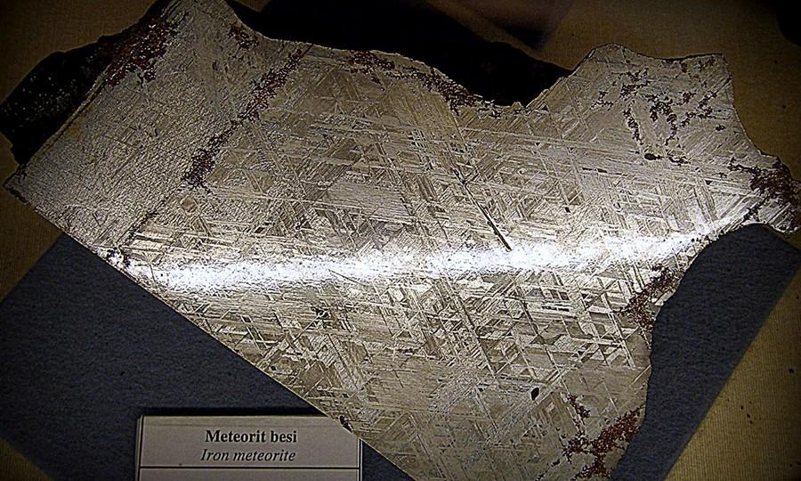 Meteorit Besi di Museum Geologi Bandung