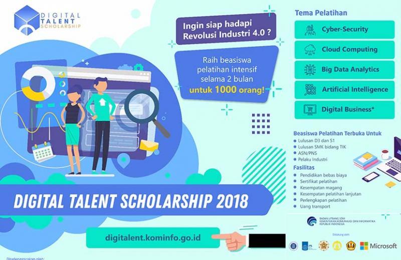 beasiswa talenta digital kemkominfo