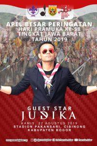 Poster: Judika akan menarik suara tingginya di hadapan ribuan Pramuka Jawa Barat.