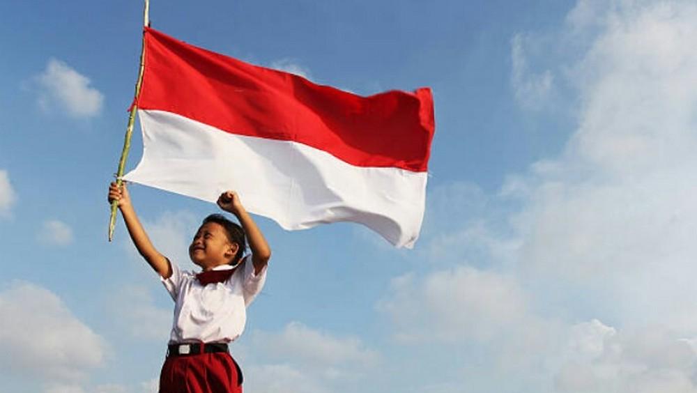 kibaran bendera merah putih anak sd